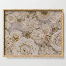 Paper Bouquet Serving Tray