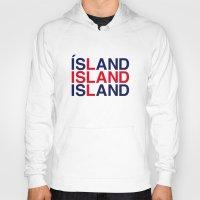iceland Hoodies featuring ICELAND by eyesblau