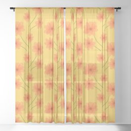 Summer Blooms Sheer Curtain