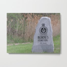 Blacks's Cemetary Metal Print