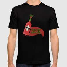 Awesome Sauce I Put That Sh*t on Everything Mens Fitted Tee Black MEDIUM