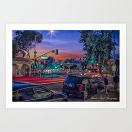 Sunset over Laguna Beach Art Print