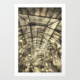 The Apple Market Covent Garden London Vintage Art Print