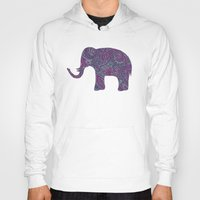 paisley Hoodies featuring Paisley Elephant by Elephant Trunk Studio