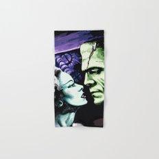 Bride of Frankenstein Monsters in Love Hand & Bath Towel