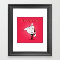 One Punch Man Grocery Framed Art Print