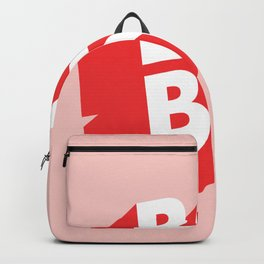 Boy Bye funny poster typography graphic design in red and pink home decor Backpack