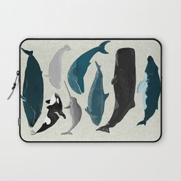 Whales and Porpoises sea life ocean animal nature animals marine biologist Andrea Lauren Laptop Sleeve