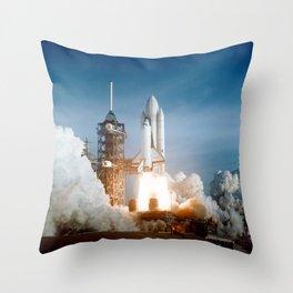 First Space Shuttle Launch Throw Pillow