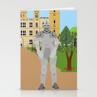 knight Stationery Cards featuring Knight by Design4u Studio