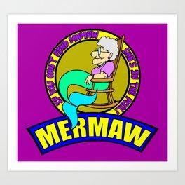 Mermaw   Art Print