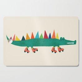 Crocodile on Roller Skates Cutting Board