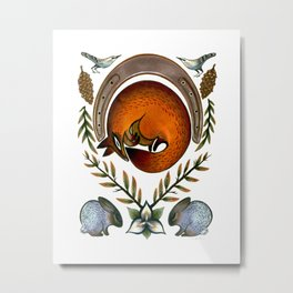 The Fox Lay Dying Metal Print