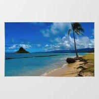 hawaiian Area & Throw Rugs featuring Hawaiian Dreams by Upperleft Studios