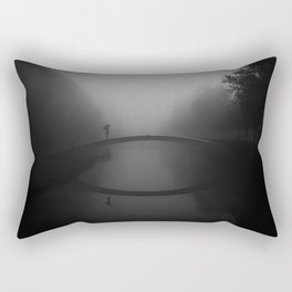 Girl on a bridge Rectangular Pillow