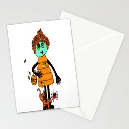 Beehive with Cat Stationery Cards