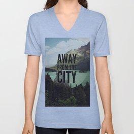 AWAY FROM THE CITY Unisex V-Neck