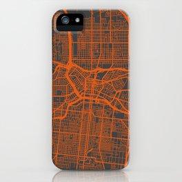 San Antonio Map orange iPhone Case