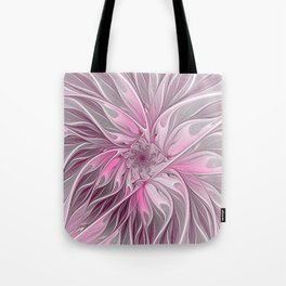 Abstract Pink Floral Dream Tote Bag