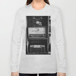 Retro Stand (Black and White) Long Sleeve T-shirt