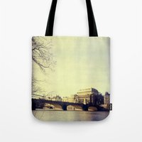 prague Tote Bags featuring Prague by Milan Kubík