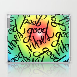 Good Vibes - Rainbow Pride Laptop & iPad Skin