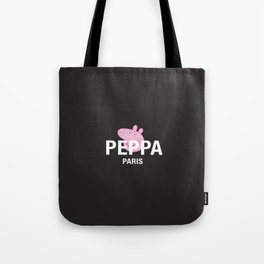 Designer Peppa Pig Paris Tote Bag