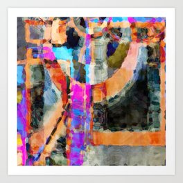 Artful Spirit Mosaic Colorful Geometric Abstract Art Print