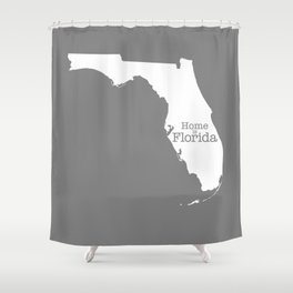 Home is Florida Shower Curtain