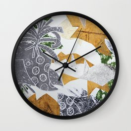Tropical Toile Wall Clock