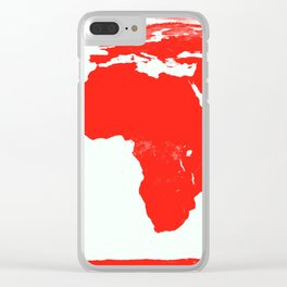 World Map red Clear iPhone Case