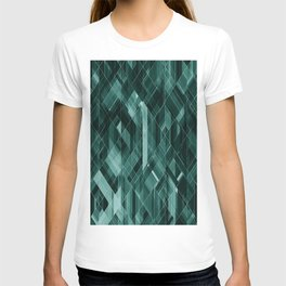 Abstract green pattern T-shirt