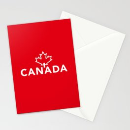 Canada with Maple Leaf Stationery Cards