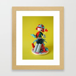 She Makes Mincemeat Out of Her Enemies (Kamen Rider Girl) Framed Art Print