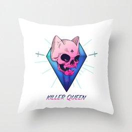 Killer Queen Throw Pillow