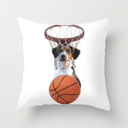 Sports Basket Ball Jack Russell Terrier Dog - Collage Throw Pillow