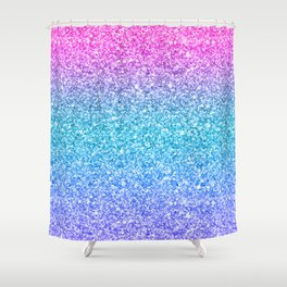 Modern colorful glitter texture print Shower Curtain
