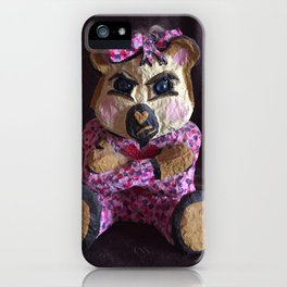Teddy with attitude iPhone Case
