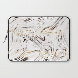 Liquid Gold Silver Black Marble #1 #decor #art #society6 Laptop Sleeve