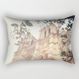 blossoms over Notre-Dame Rectangular Pillow