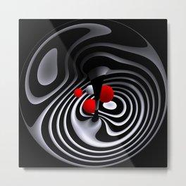 circular images on black -17- Metal Print