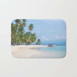 The San Blas Islands in Panama. Isla Iguana Bath Mat