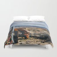 kerouac Duvet Covers featuring type-fast (kerouac had a first name) by heretosaveyouall