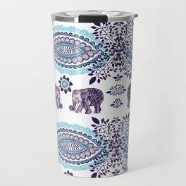 Boho Elephant Pattern Travel Mug