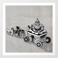 Princess of artichoke Art Print