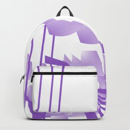 Purple Lines of Passion Backpack