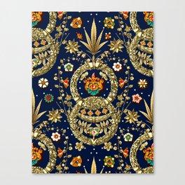 Art Nouveau Floral Pattern Canvas Print