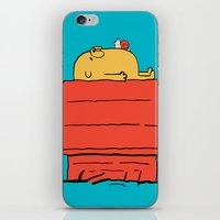 snoopy iPhone & iPod Skins featuring Snoopy Time! by penguinline