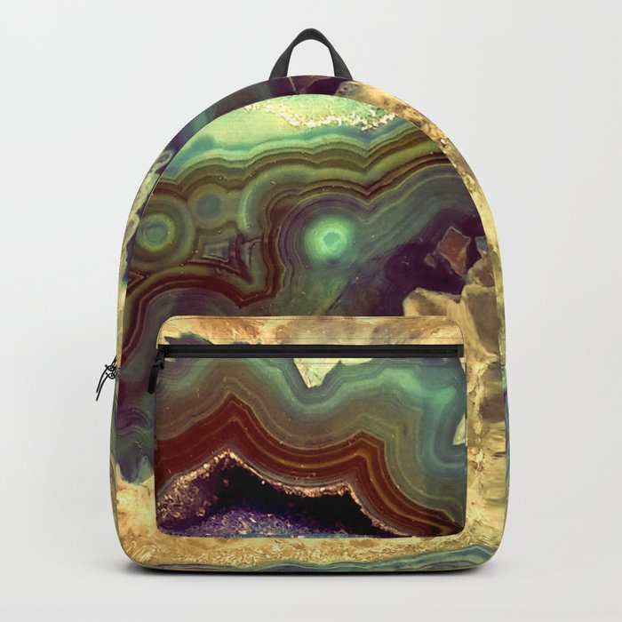 Colorful Earth Tones Quartz Crystal Backpack