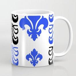 Fluer de Lis Custom Blue Coffee Mug